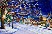 Christmas In Leavenworth Print by Suzanne King