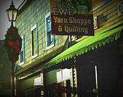 Store Fronts Prints - Christmas In Newaygo Michigan Print by Rosemarie E Seppala