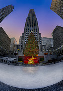 Twilight Prints - Christmas In NYC Print by Susan Candelario