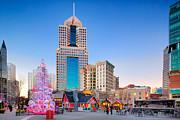 Christmas In Pittsburgh 1 Print by Emmanuel Panagiotakis