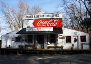 General Stores Prints - Christmas In Rabbit Hash Print by Mel Steinhauer