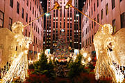 James Kirkikis Art - Christmas In Rockefeller Plaza by James Kirkikis