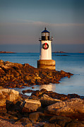 New England Lighthouse Digital Art Prints - Christmas in Salem Print by Jeff Folger