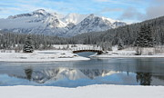 Ramona Johnston Framed Prints - Christmas in the Rockies Framed Print by Ramona Johnston