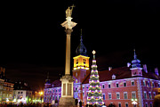 Polish Culture Prints - Christmas in Warsaw Print by Artur Bogacki