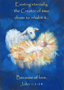 Nativity Paintings - Christmas Light card by Pamela Poole