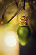 Aluminum Acrylic Prints - Christmas Light Ornament Acrylic Print by Scott Norris