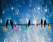Winter Night Metal Prints - Christmas Lights Metal Print by Bob Orsillo