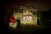 St Charles Avenue Photos - Christmas Lights in New Orleans by Ray Devlin