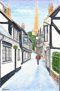 'christmas Mail' - Ledbury - Herefordshire Print by Peter Farrow