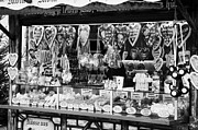 Christmas Market Prints - christmas market stall selling Lebkuchen and various sweets and nuts confectionery Berlin Germany Print by Joe Fox