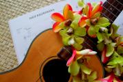 Hawaiian Plumeria Art - Christmas Mele by Mary Deal