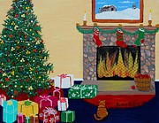 Christmas Eve Paintings - Christmas Memories by Barbara Griffin