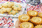 Christmas Star Posters - Christmas Mince Pies Cookies Candy Canes Poster by Colin and Linda McKie