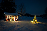 Oil Lamp Photos - Christmas night by Torbjorn Swenelius