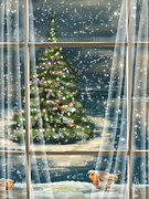 Christmas Art - Christmas night by Veronica Minozzi