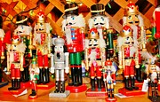 Nutcrackers Prints - Christmas Nutcrackers Print by Judy Palkimas