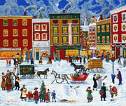 Wysocki Prints - Christmas on Main Street Print by Joseph Holodook