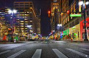 Art Museum Digital Art - Christmas on Woodward by Nicholas  Grunas