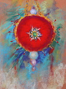 Presents Pastels Posters - Christmas ornament 1 Poster by M Diane Bonaparte