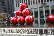 John Telfer Photography Posters - Christmas Ornaments in NYC Poster by John Telfer