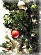 Christmas Ornaments Print by Joan  Minchak