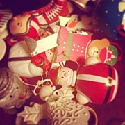 Still Life Art - Christmas Ornaments by Kay Pickens