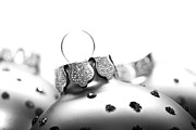 Christmas Market Photos - Christmas Ornaments monochrome by Sabine Jacobs