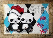 Lizzy Love of Oddball Art Co - Christmas Pandas Go Ho...