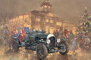 Cards Vintage Painting Prints - Christmas Party at Brooklands Print by Peter Miller