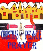 Prayer Cards Posters - Christmas Peace Prayer Poster by Patrick J Murphy