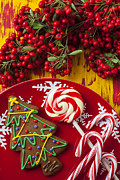 Cane Photos - Christmas plate by Garry Gay