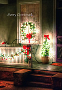 Greet Posters - Christmas Porch Poster by Jerry Sodorff
