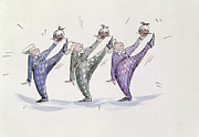 Dancing Prints - Christmas Pudding Print by Joanna Logan