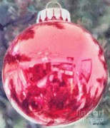 Christmas Bulb Posters - Christmas Reflected Poster by Jeff Kolker
