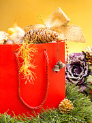Red Bag Posters - Christmas Shopping Poster by Wim Lanclus