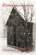 Beverly Cazzell - Christmas Snow Barn