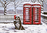 Snow Dog Posters - Christmas Special No.1 Poster by Mahtab Alizadeh