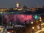 Rainbow Bridge - Tokyo Posters - Christmas Spirit at Niagara Falls Poster by Lingfai Leung