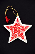 Papier Mache Posters - Christmas Star Poster by Anne Gilbert