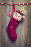 Ribbon Posters - Christmas Stocking Poster by Christopher and Amanda Elwell