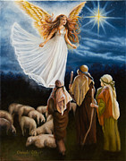 Night Angel Paintings - Christmas Story by Cheryl Allen