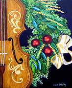 Abstract Music Pastels - Christmas Strings by Carol OMalley