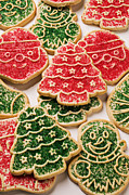 Snowman Photos - Christmas sugar cookies by Garry Gay