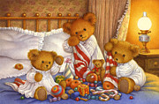 Bedtime Stories Prints - Christmas Surprises Print by Carol Lawson