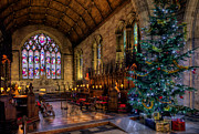Stained Glass Prints - Christmas Time Print by Adrian Evans