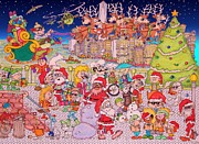 Merry Old Elf Posters - Christmas time in the City Poster by Paul Calabrese