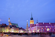 Polish Culture Framed Prints - Christmas Time in Warsaw Framed Print by Artur Bogacki