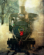 Colorado Railroad Museum Posters - Christmas Train Poster by Gene Tewksbury