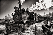Colorado Railroad Museum Prints - Christmas Train Steams On Print by Gene Tewksbury